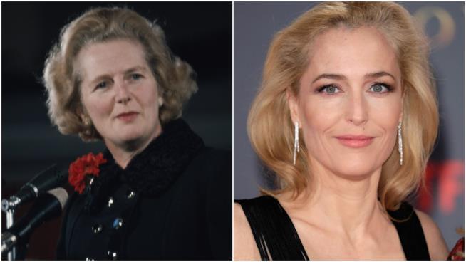Margaret Thatcher e Gillian Anderson