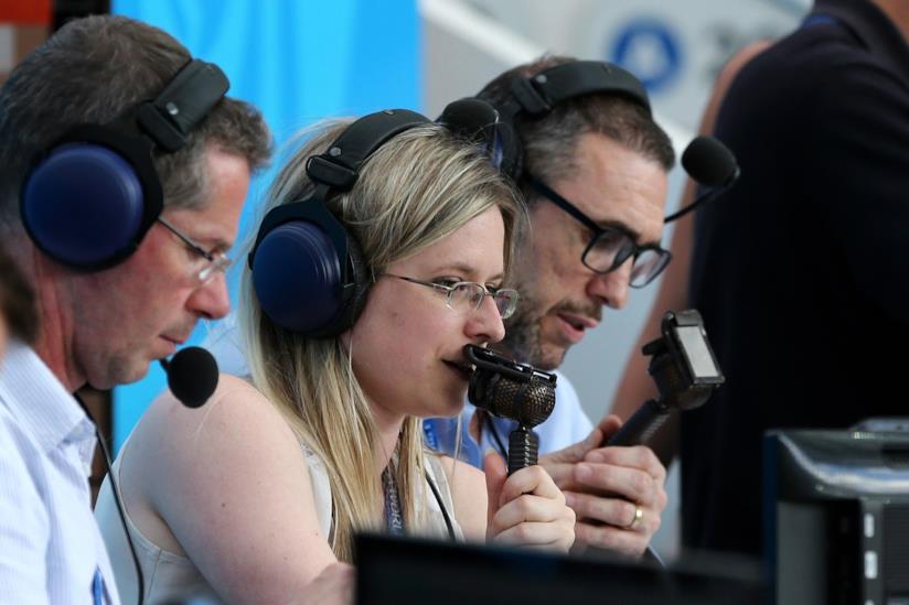 Vicky Sparks ai Mondiali per la BBC