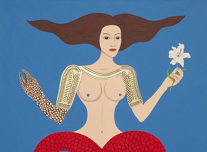 Un'opera di Dem dalla mostra Eternal Little Goddess