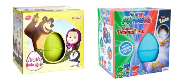 Uova di Pasqua giocattolo per bimbi