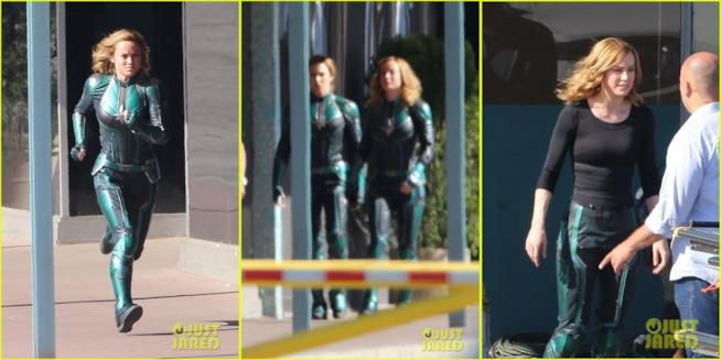 Brie Larson dietro le quinte di Captain Marvel