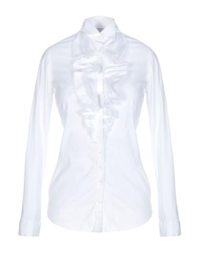 Camicia bianca con le rouches