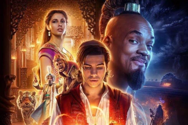 Il poster del live action Aladdin