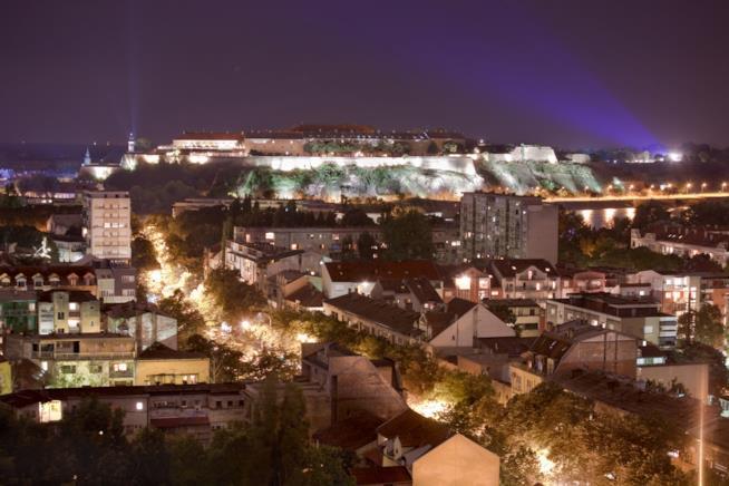 Notte sulla Fortezza di Petrovaradin