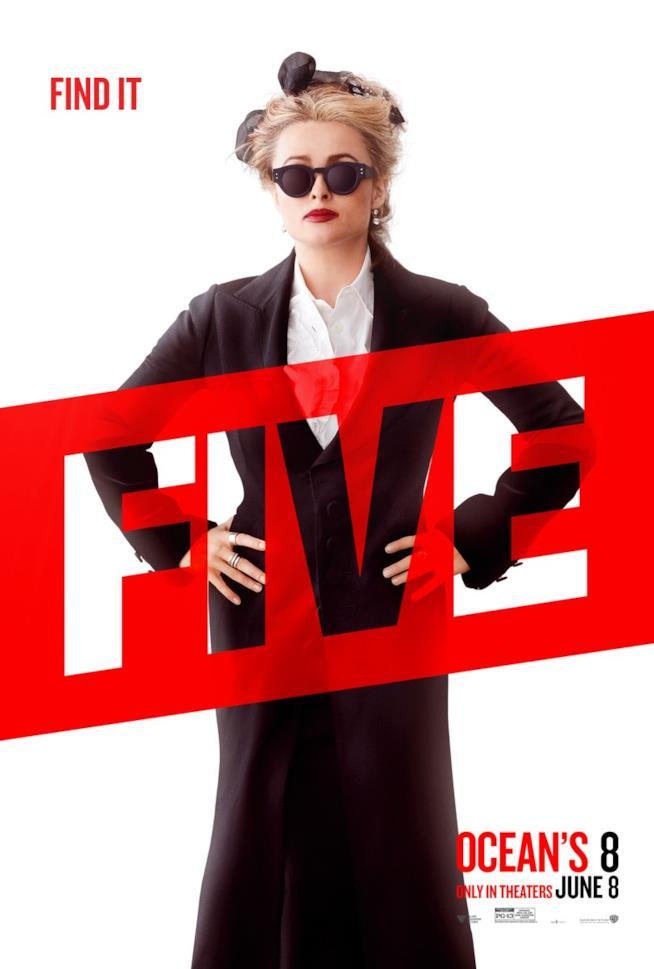 Character poster di Helena Bonham Carter in ocean's 8