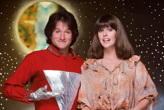 Le star della serie TV Mork & Mindy, Robin WIlliams e Pam dawber