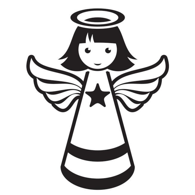 Sagoma a forma di angelo per riprodurlo su stoffa
