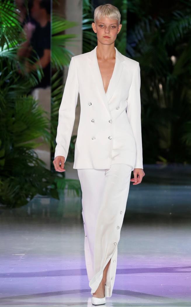 Lungo abito bianco Azzaro