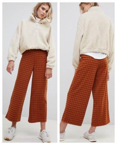 Cropped pants ruggine