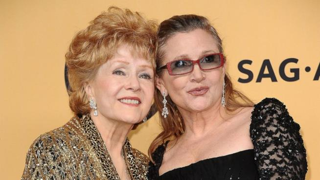 Le attrici Debbie Reynolds e Carrie Fisher