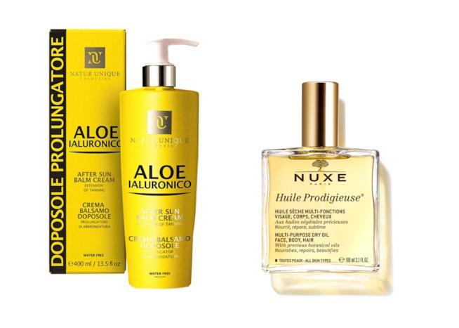 Crema e olio corpo idratanti pelli abbronzate