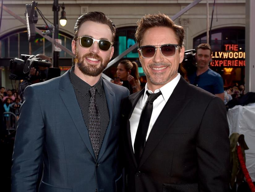 Chris Evans e Robert Downey Jr.