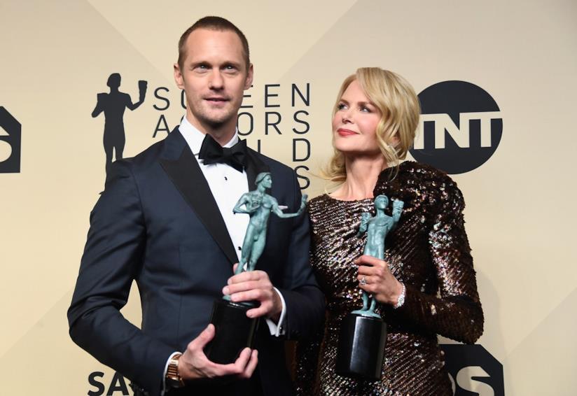 Alexander Skarsgård con l'amica e collega Nicole Kidman