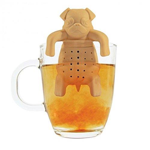 Dettaglio del filtro per tè a forma di cane