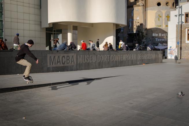 Il Museo d'Arte Contemporanea (MACBA), nel quartiere del Raval