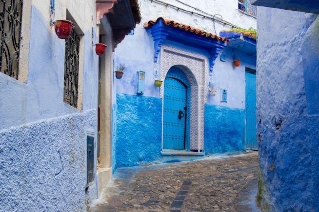 Le tipiche case bianche e azzurre di Chefchaouen