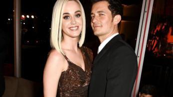 L'attore Orlando Bloom e la cantante Katy Perry