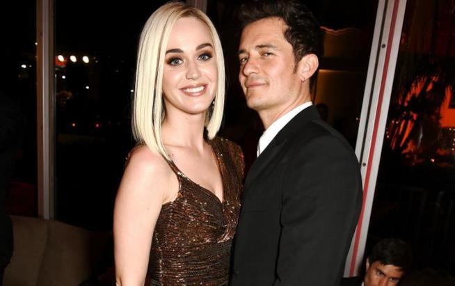 L'attore Orlando Bloom e la cantante Katy Perry