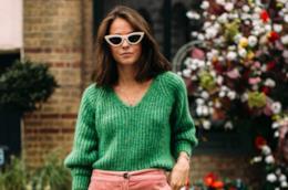 Chiara Biasi in abito verde