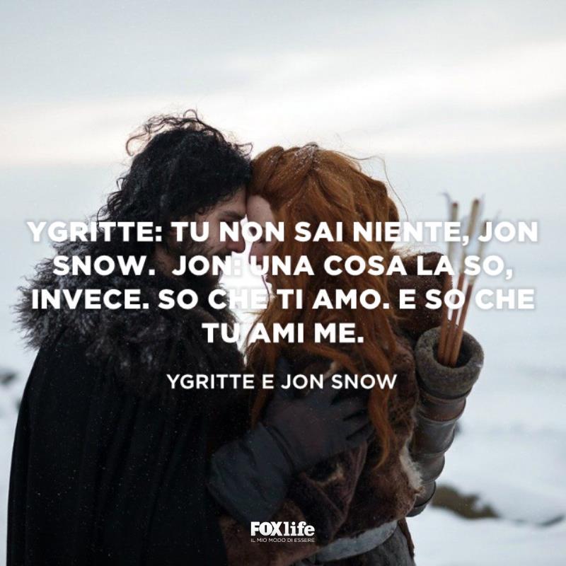Ygritte e Jon Snow