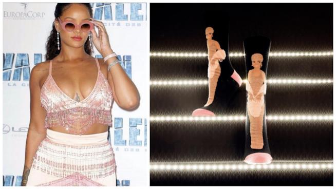 I nuovi calzini disegnati da Rihanna