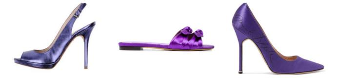Collage di scarpe Ultraviolet