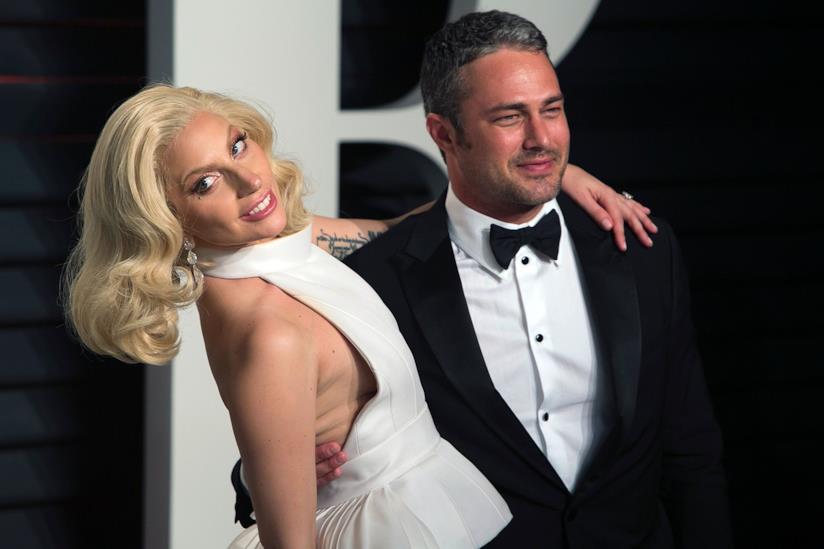 Lady Gaga con l'ex fidanzato Taylor Kinney