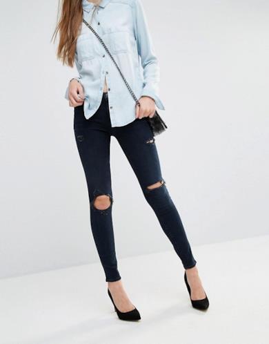 Jeans strappati effetto super slim