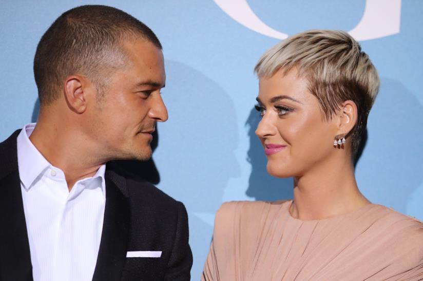 Orlando Bloom e Katy Perry su un red carpet