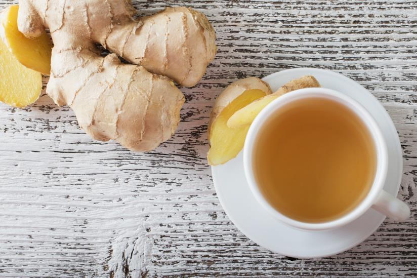 Tazza di tè allo con lo zenzero