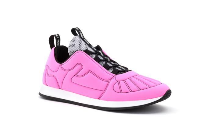 Sneaker Fendi Roma Amor in Lycra® pink