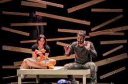 Chiara Francini e Raoul Bova in scena con Due
