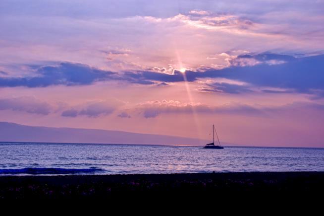 Spiaggia di Maui al tramonto