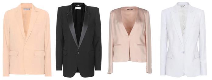 Collage di giacche scollate