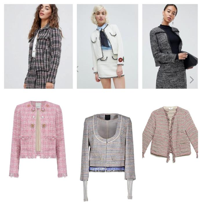 bf5a2ec742 Asos, Amazon Moda Giacche in tweed e bouclé di tendenza A/I 2018-19