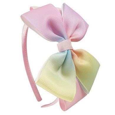 Cerchietto per capelli con fiocco colorato