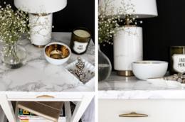 Il tavolino dell'Ikea modificato e abbellito