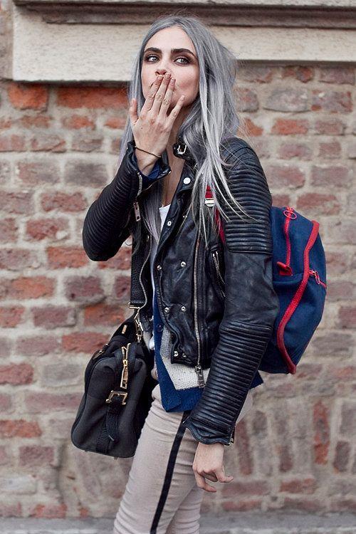 Cara Delevingne e i capelli grigi