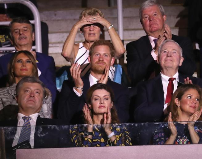 Harry accanto a Melania Trump agli Invictus Games di Toronto