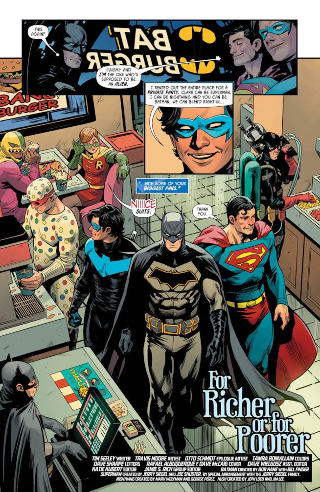 Una pagina di Batman - Prelude to the Wedding: Nightwing vs. Hush