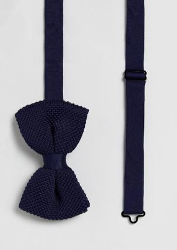 Farfallino in maglia blu navy