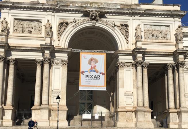 L'ingresso della mostra Pixar - 30 anni di animazione
