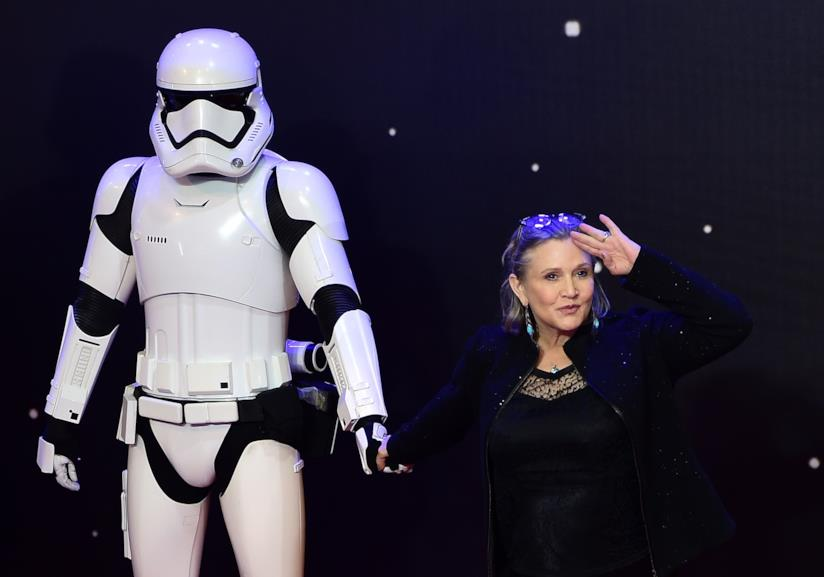 Carrie Fisher a un evento di Star Wars
