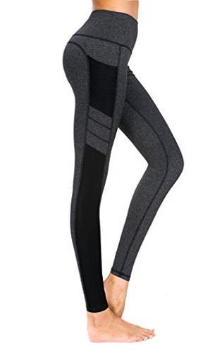 New Mincc Leggings Donna Pantaloni da Corsa Fitness Sportivi Yoga Allenamento Dimagranti Tasca Tasche (Nero XS)