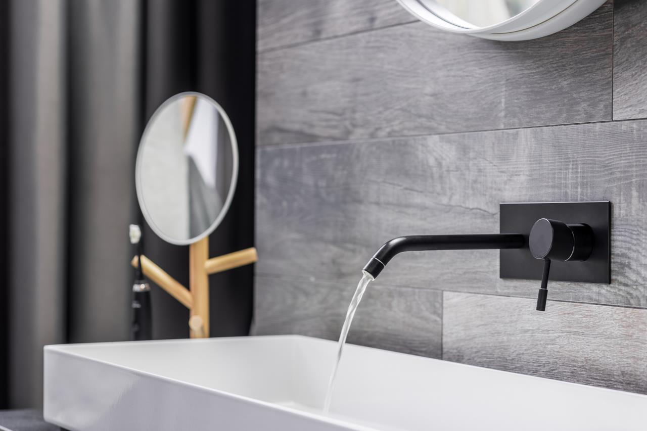 Interior design in nero per la casa eleganza in ogni ambiente - Rubinetteria bagno nera ...