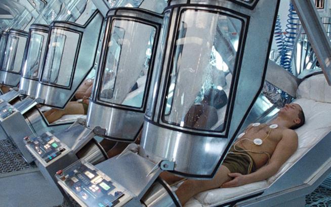 Capsule di criogenazione dal film Aliens