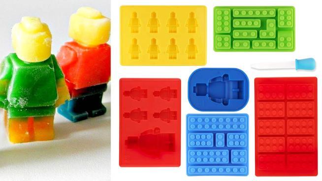 Stampi per il ghiaccio e dolci a forma di LEGO