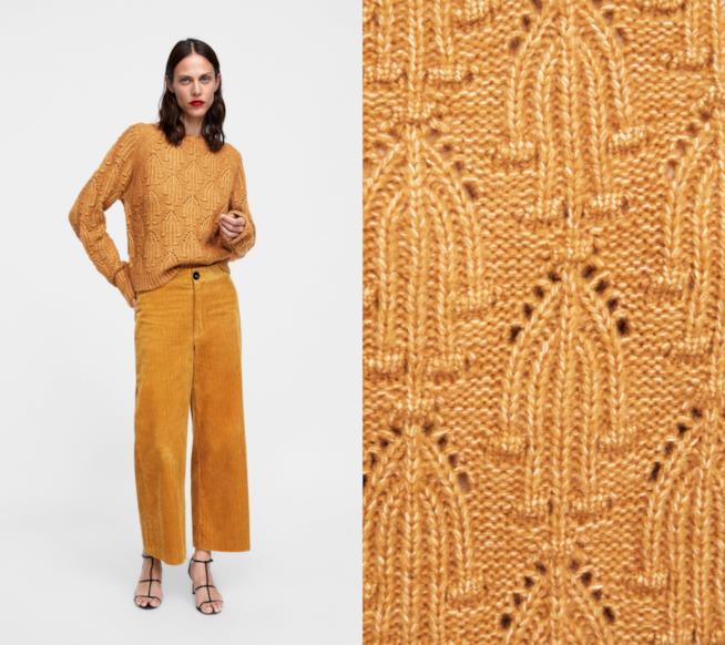 Pullover giallo senape moda autunno 2018