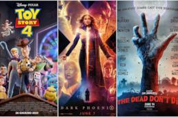 Poster di Toy Story 4, X-Men: Dark Phoenix e I morti non muoiono