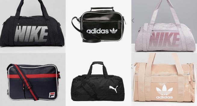 Collage borse sportive